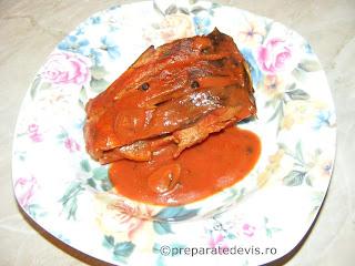 Peste in sos tomat la cuptor retete culinare,