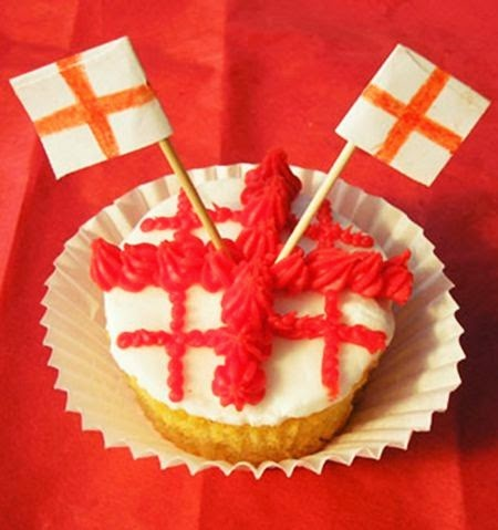 England Flag Cake Ideas