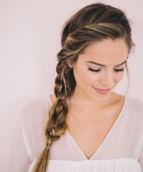 one sided braid hairstyle