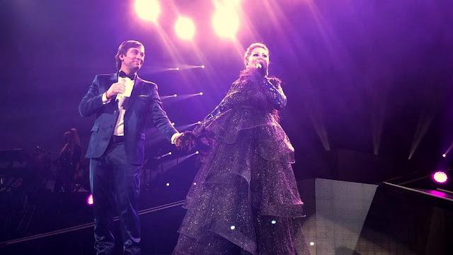 La estrella mexicana Alejandra Guzmán y Odino Faccia ovacionados en el Radio City Hall de Nueva York