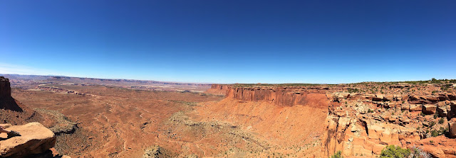 Panorama of Orange Cliffs Overlook