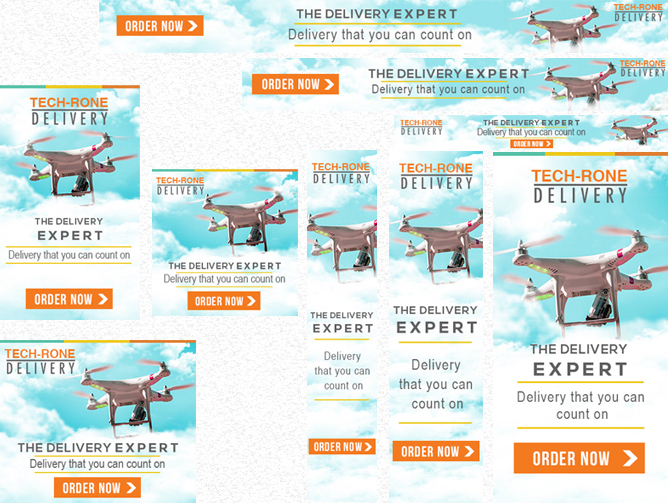 Drone business banner advertising template
