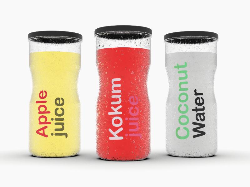 Pure : Juice Bottle