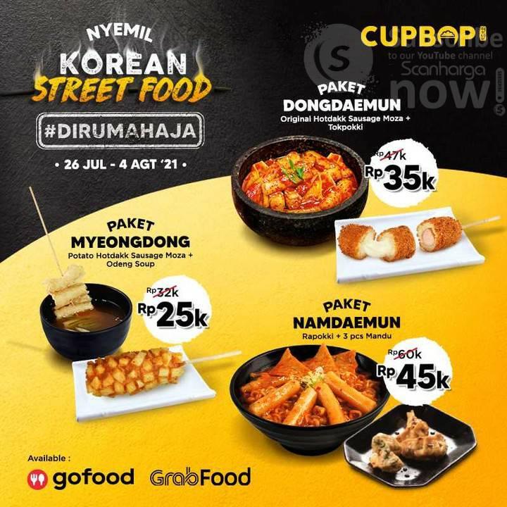 Promo CUPBOP Paket Korean Street Food! harga mulai 25 Ribu