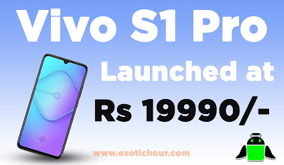 vivo s1 pro launched in India for Rs 19,990