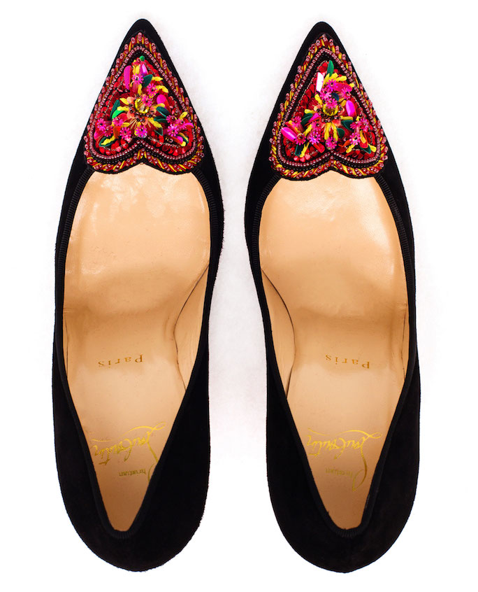 e24cb5dea46 The Daily Bauble: Christian Louboutin Perucora Embellished Heart ...