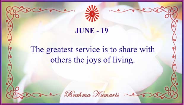 Thought For The Day June 19
