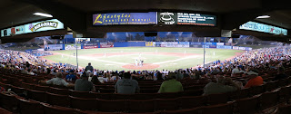 Picture of Cashman Field Las Vegas Nevada during a 51s game from the stands behind home plate.