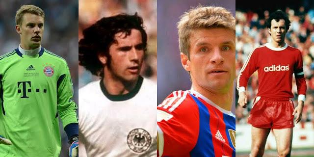 Os 100 maiores Jogadores alemães da História da Bundesliga.