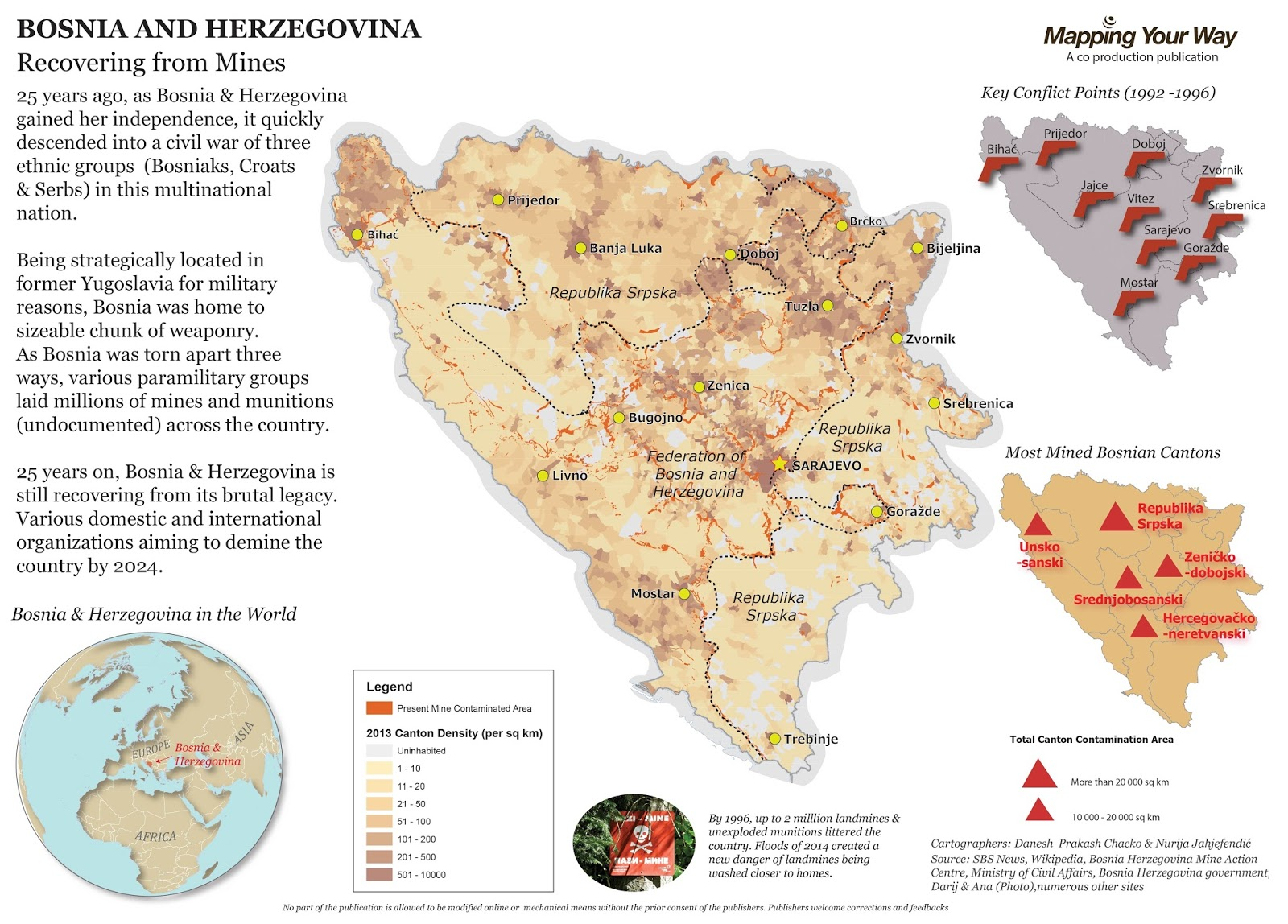 bosnia herzegovina landmine contamination map