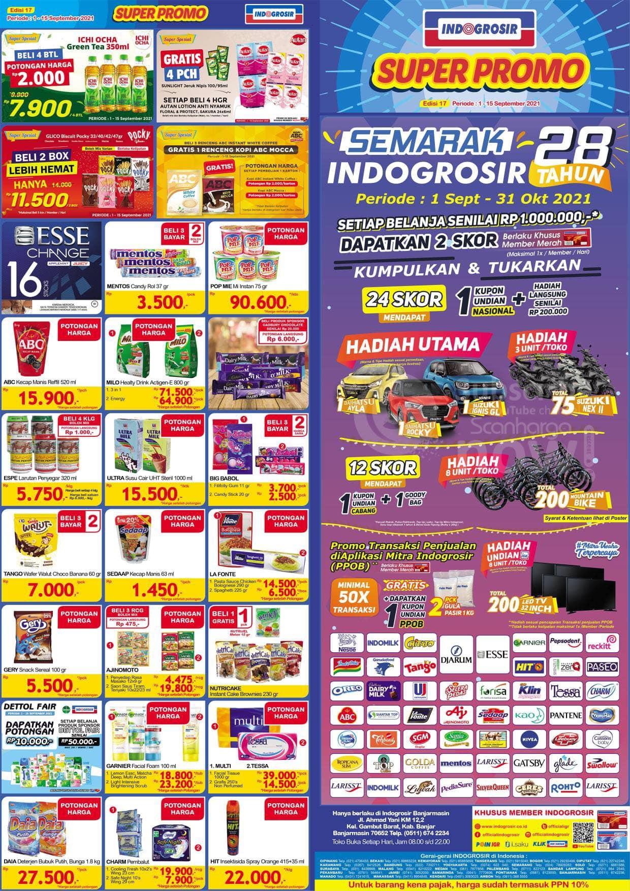 Katalog INDOGROSIR Super Promo Periode 1 - 15 September 2021