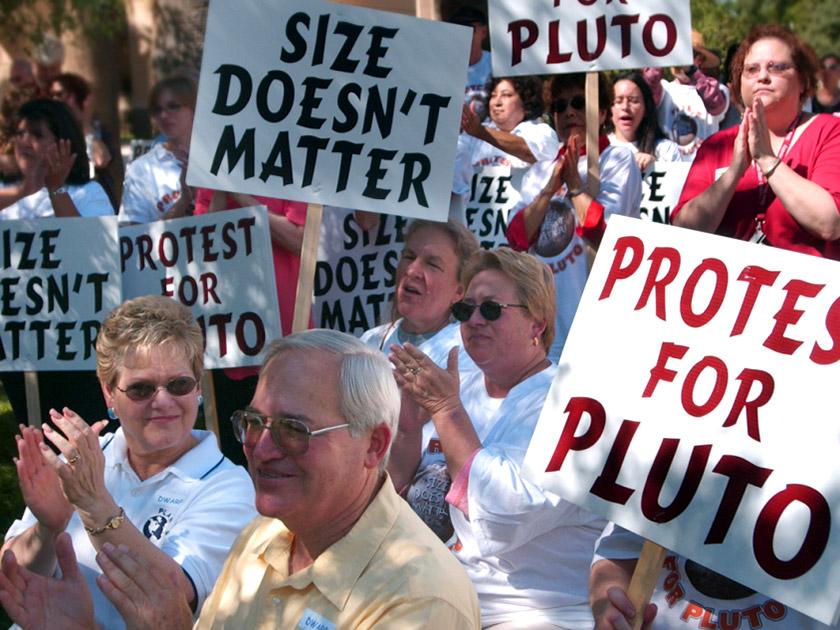 Мітинг на підтримку Плутона