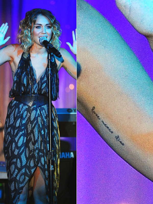 Miley's Tattoos