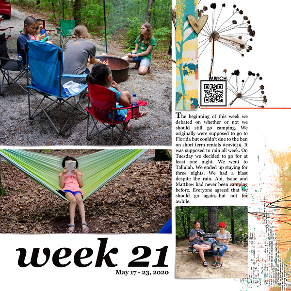 Camping: Digital Scrapbook Page {left}