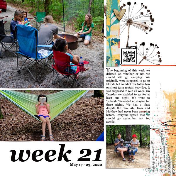 Camping: Digital Scrapbook Page {left}