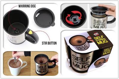 review dan bongkar self stirring mug, cangkir pengaduk otomatis yang dilengkapi mesin