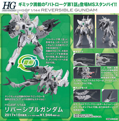 Da Gundam Build Fighters: Battlogue la Bandai ci propone il Reversible Gundam HGBF