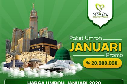 Biaya Paket Umroh Promo bulan Januari 2020