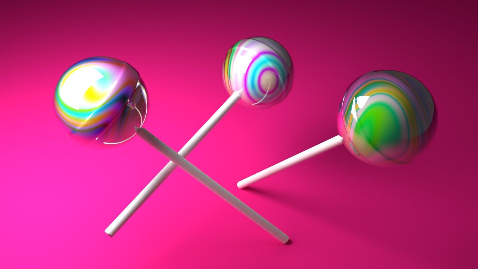 Free 3D Lollipops .blend file