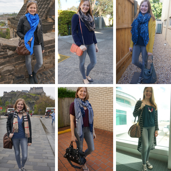 6 ways to wear blue with grey skinny jeans mum style outfits  | awayfromtheblue