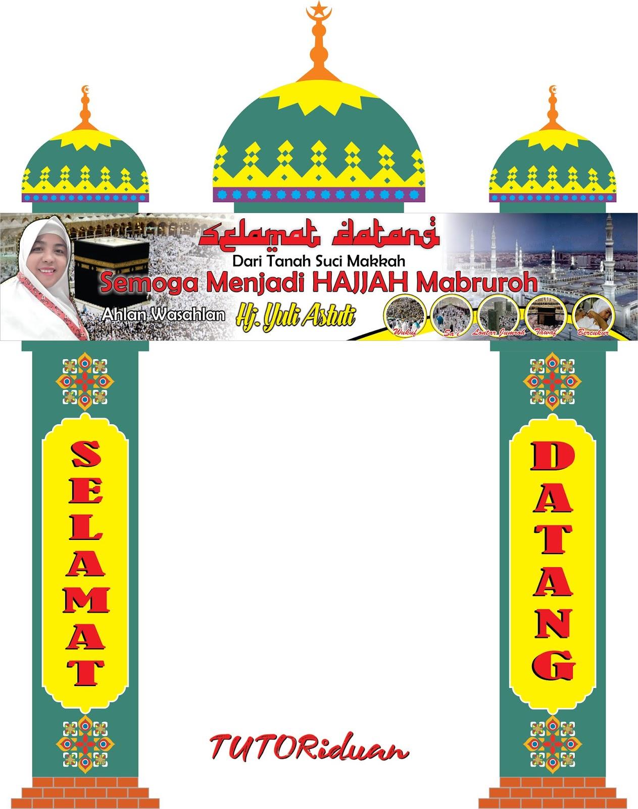 Banner Haji Format Cdr : banner, format, Desain, Gapura, Ukuran, Dengan, CorelDRAW, TUTORiduan.com