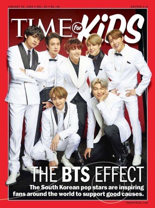 BTS 'Time for Kids' dergisinin kapağında yer aldı