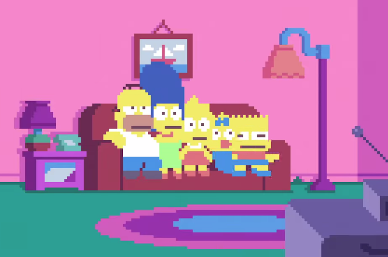 SIMPSONS PIXELS - DAS INTRO ALS TRIPPIGE 8BIT VIDEO VERSION - ATOMLABOR BLOG WEBTRASH