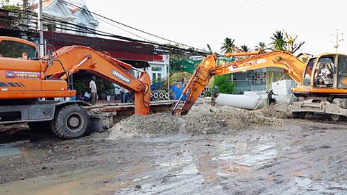 Thi công nâng cấp đường Nguyễn Đình Chiểu, TP. Phan Thiết