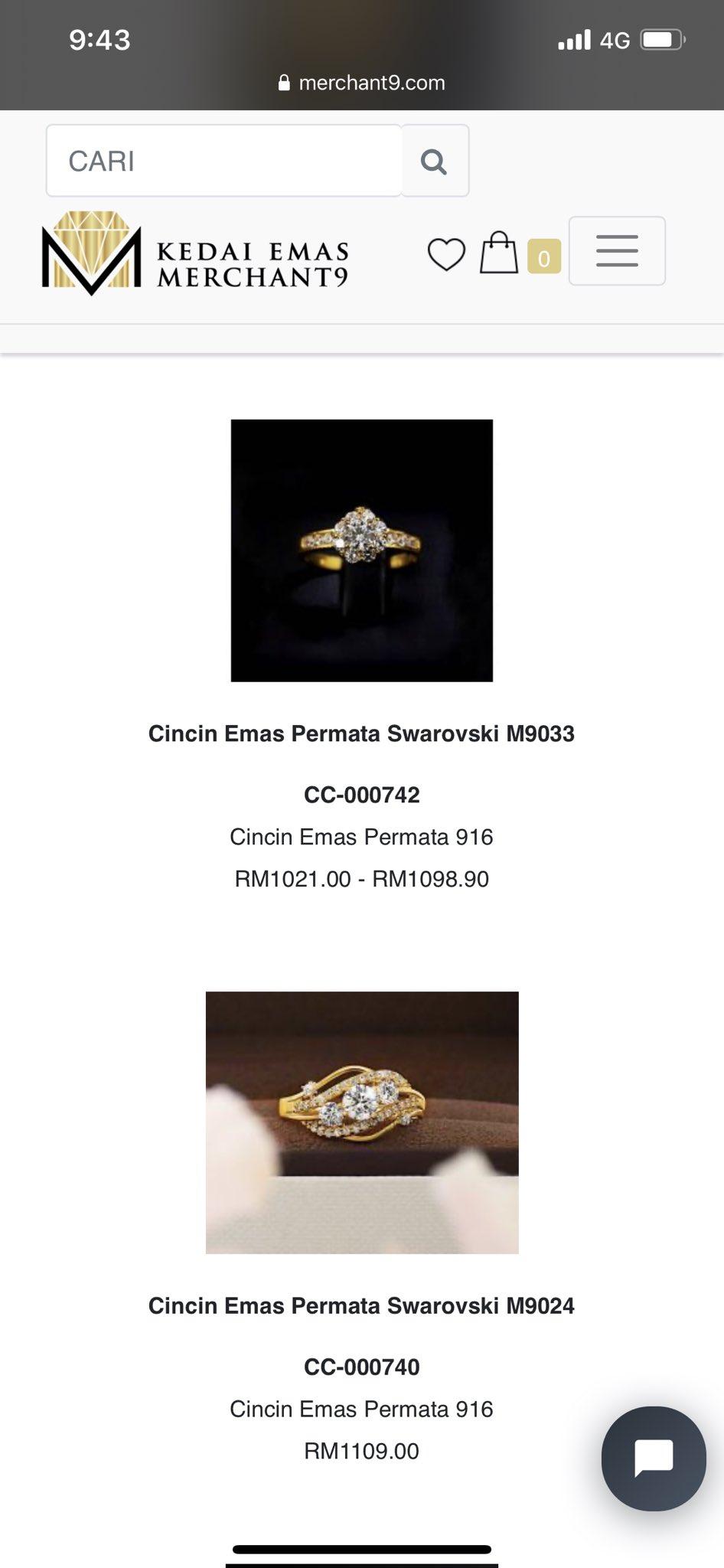 cincin merisik tunang nikah