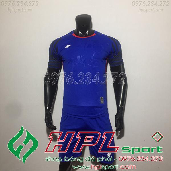 Áo bóng đá ko logo Eureka HAT VC  Màu Xanh Đậm