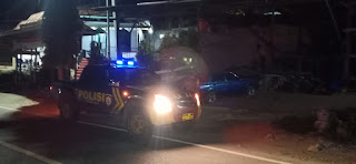Jaga Kamtibmas, Polsek Alla Laksanakan Patroli Blue Light