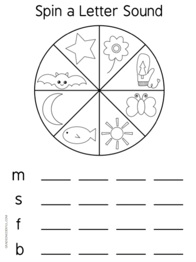 Spin a Letter Sound phonics game FREEBIE. Most children love to learn through games. So I've made up a set of spinners that feature beginning sounds from a to z.