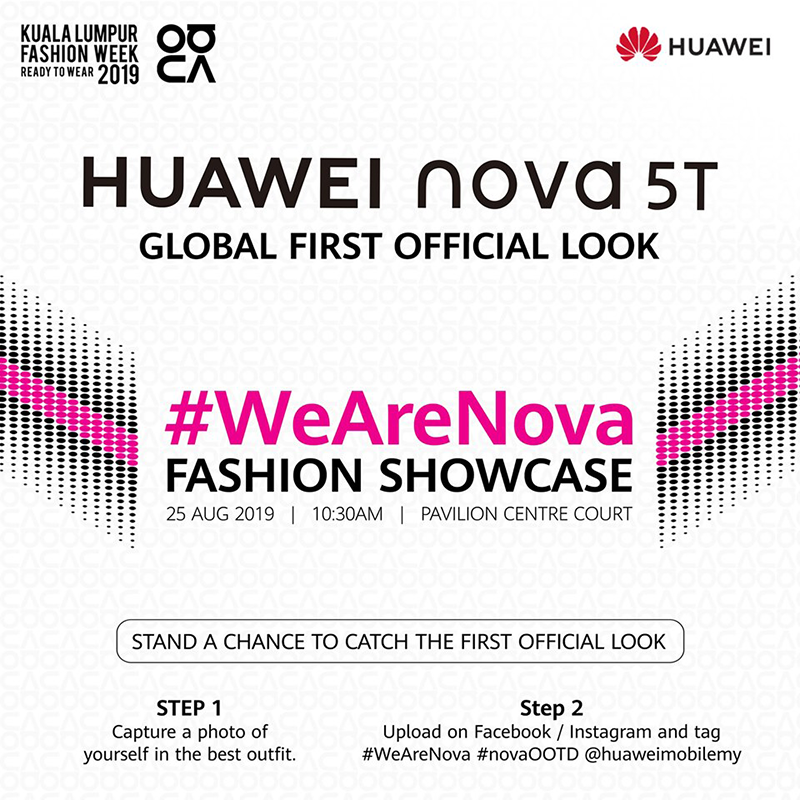 Huawei to launch Nova 5T in Malaysia on August 25