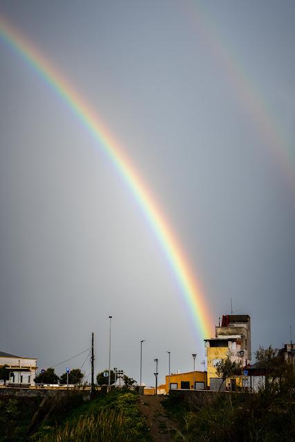 Fotografiando bajo la lluvia con el arco iris