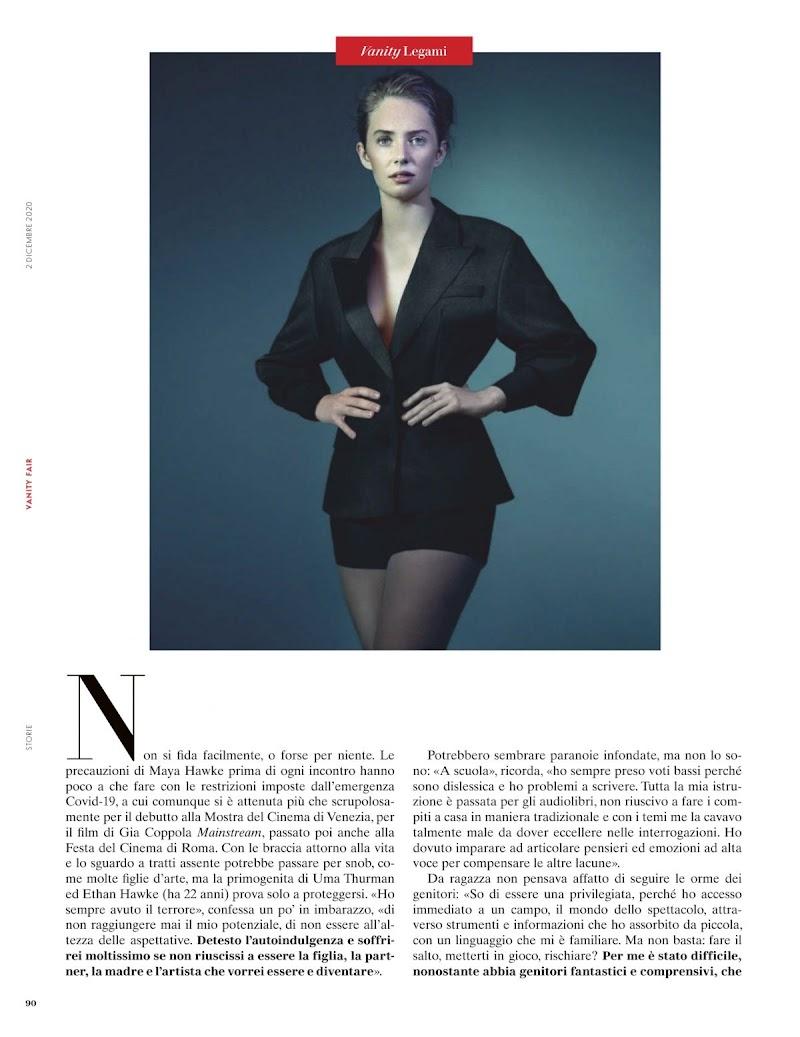 Maya Hawke Featured in Vanity Fair Magazine -  Italy December 2020