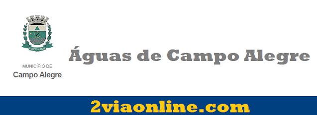 2Via Águas de Campo Alegre: confira como consultar fatura e gerar boleto