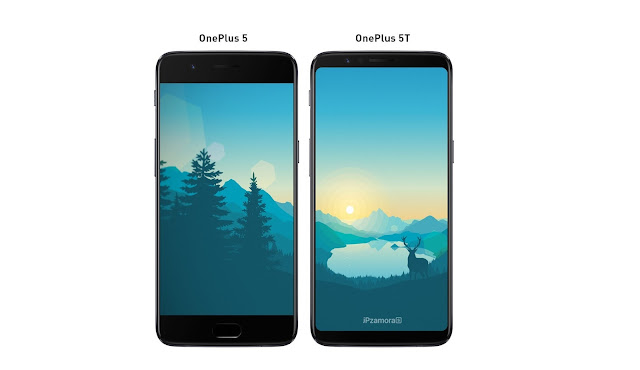 OnePlus 5T Render Offers Direct Size Comparisons With OnePlus 5