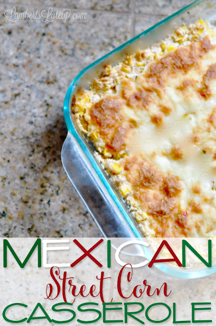 This recipe for Mexican Street Corn Casserole looks delicious! It combines rich and fresh flavors for a perfect summer weeknight side dish or potluck casserole.  Baked in an oven.