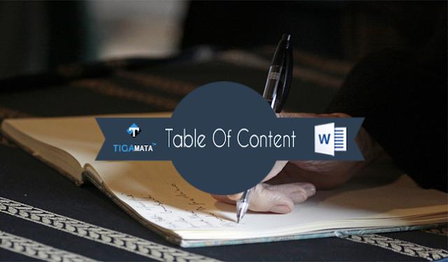 Cara Membuat Daftar Isi Paling Mudah dan Cepat di Microsoft Word Dalam Waktu 3 Menit