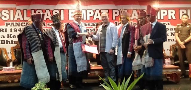 Ketua MPR RI Bambang Soetyao, SE MBA Tandatangani Pendirian Universitas Negeri Di Tapanuli Raya