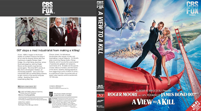 007 A View To A Kill Bluray Cover