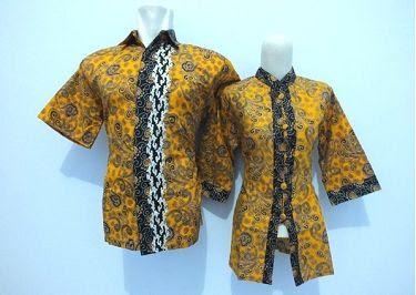 Contoh model baju batik kantor terbaru