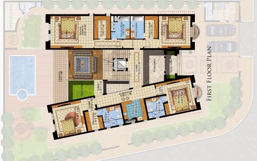 Three Story Villa Details 750 Msq In Saudi Arabia