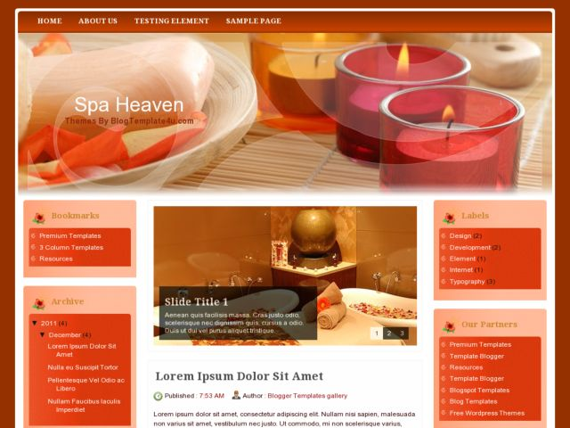 Spa Heaven Blogger Template