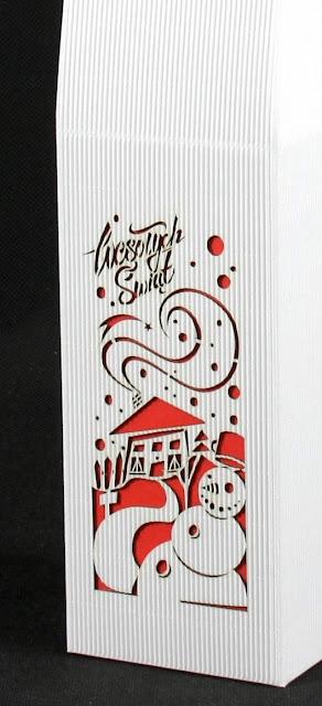 Pudełko na wino świąteczne