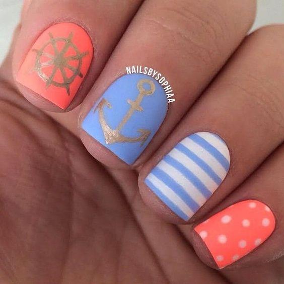 дизайн ногтей на море фото 2016