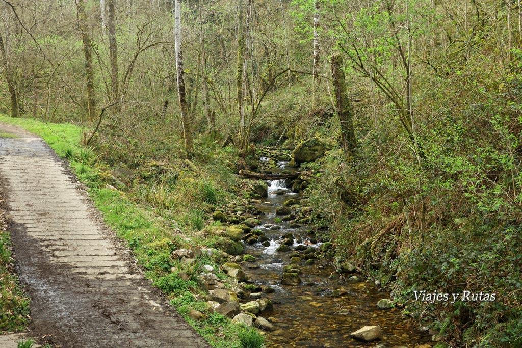Pista al área del Chorrón, Piloña, Asturias