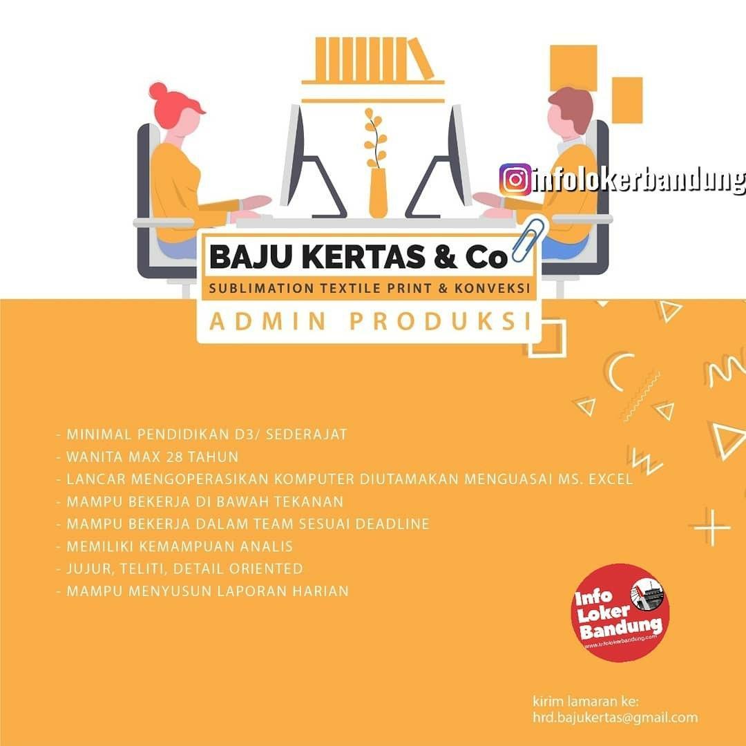 Lowongan Kerja Admin Produksi Baju Kertas & Co Bandung Maret 2020