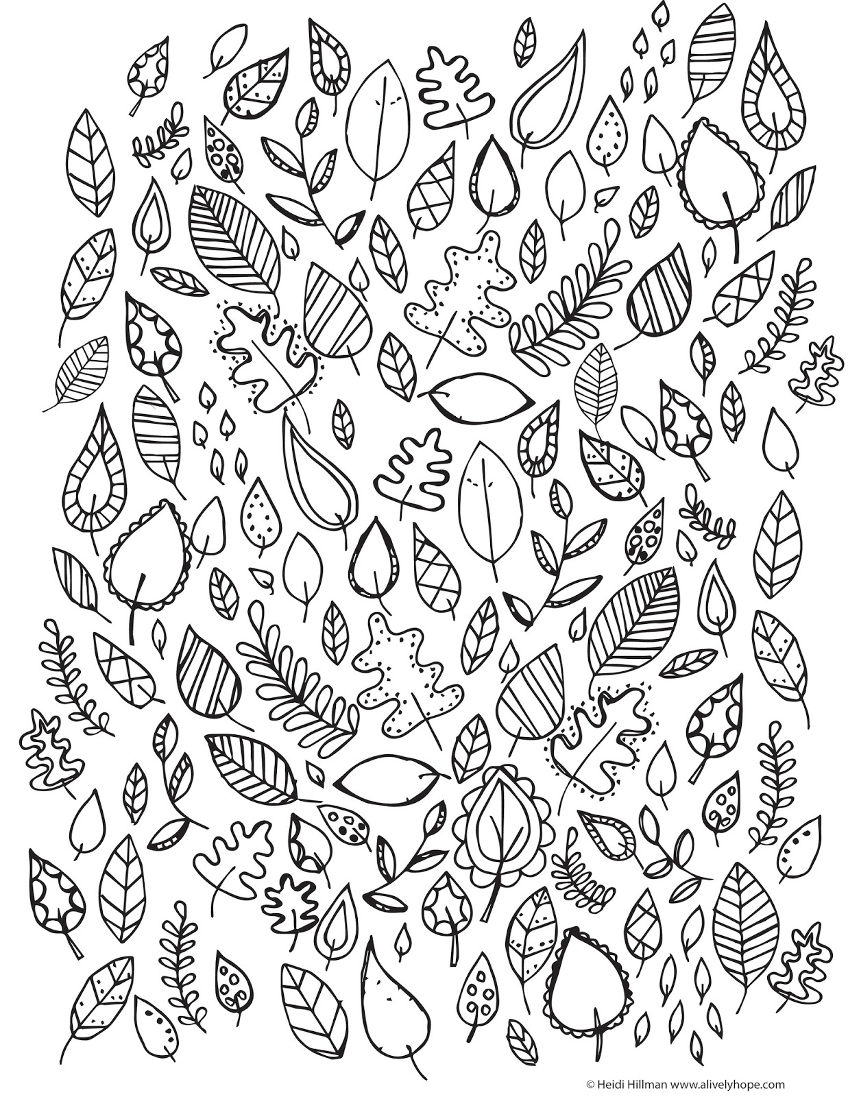 A Lively Hope: Free Gratitude Coloring Page