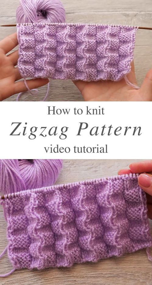 Zigzag Knit Pattern - Tutorial